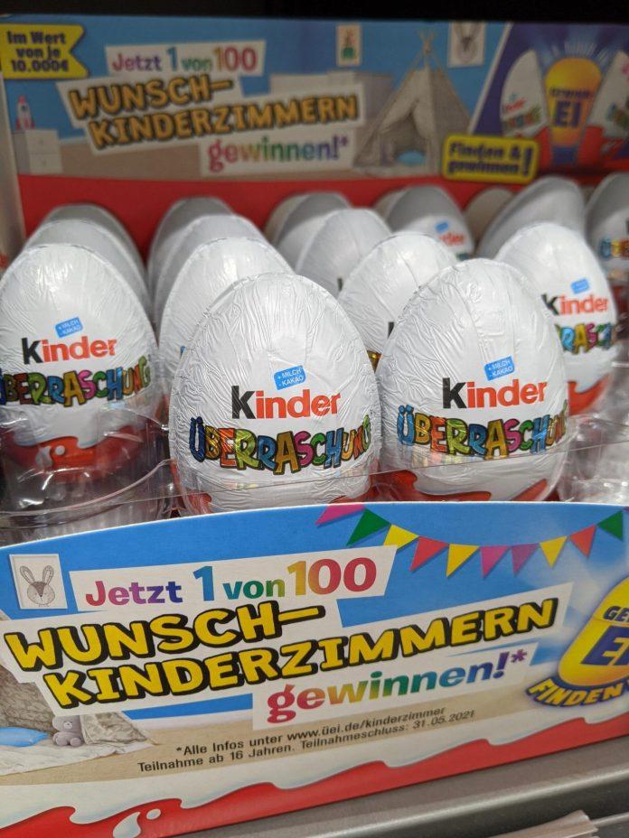 Kinder Überraschung: Ü-Ei finden, Wunsch-Kinderzimmer gewinnen