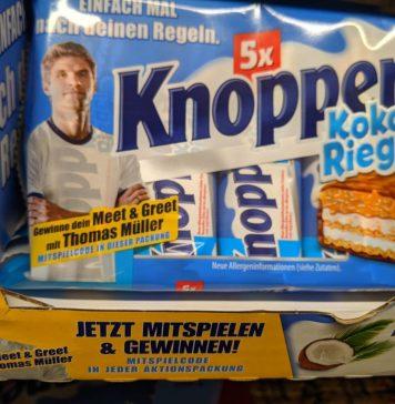 Knoppers: Meet & Greet mit Thomas Müller gewinnen - Mitmach-Code eingeben