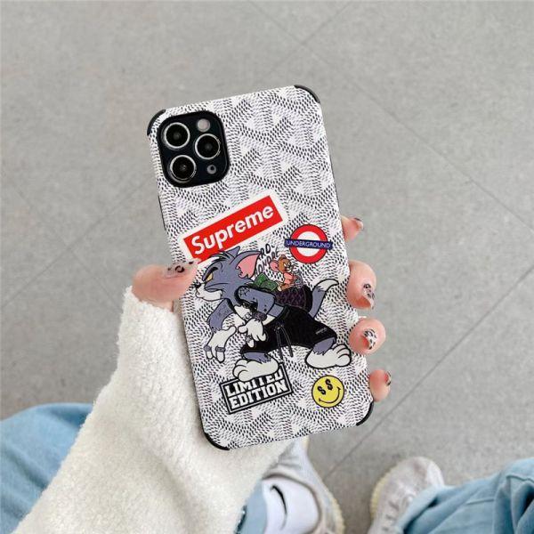 iphone12 ケース トム と ジェリー シュプリーム アイ フォン12pro max ケース おそろい iphone11pro/se2 携帯ケース 最強 衝撃 ゴヤール iphonexs max iphonexr ケース オリジナル おすすめ