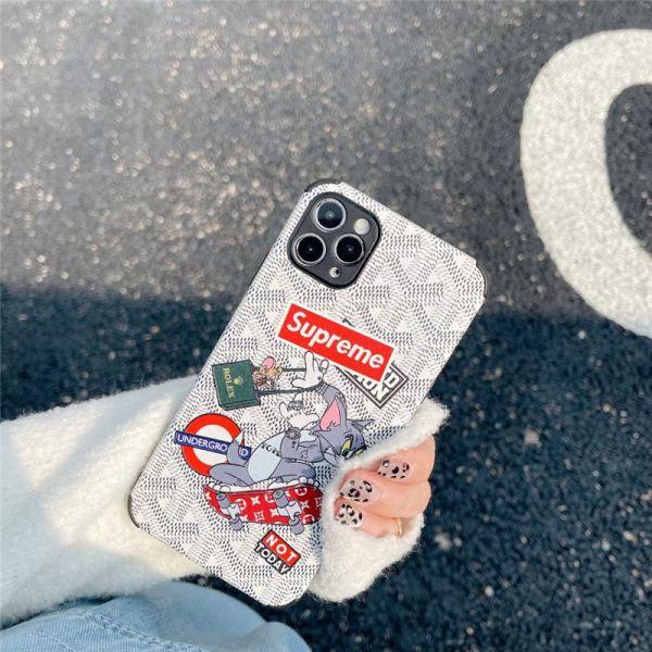 iphone13 ケース トム と ジェリー シュプリーム アイ フォン12pro max ケース おそろい iphone11pro/se2 携帯ケース 最強 衝撃 ゴヤール iphonexs max iphonexr ケース オリジナル おすすめ