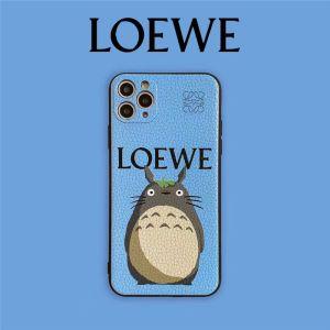 ロエベ トトロ iphone ケース ペア LOEWE iphone12pro max/12miniケース キャラクター iphone11 レザー ケース まっくろ くろ すけ iphone11pro/xs max 携帯カバー おもしろ アイフォンx/10r ケース 可愛い
