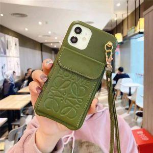 loewe iphone13pro max ケース カード収納 おすすめ ロエベ iphone13pro/12pro maxケース 首掛け iphone11/xs max カバー 革 ブランド レディース アイフォンse2/x/7plus 携帯ケース 韓国風