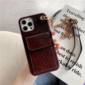 チェーン付き iphoneケース12mini LOEWE iphone12/11pro ケース カード 収納 ロエベ アイフォン11/xs マックス カバー 女性向け スマホケース ブランド プレゼント