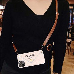 celine iphone12 ショルダー ケース 背面 収納 セリーヌ iphone11/12mini レター 型 スマホカバー iphonexs max/x ケース おすすめ 女性 iphone7/8plus 携帯ケース 大人っぽい