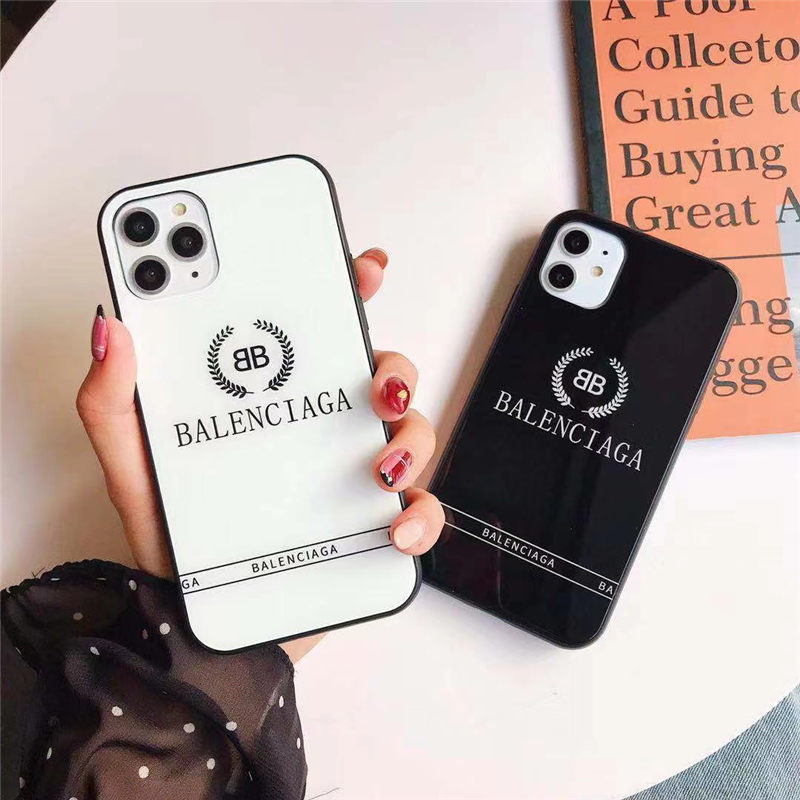 iphone12 ケース ブランド メンズ balenciaga iphone12mini/11pro ガラスケース ペア バレンシアガ アイフォンxs max/10s 保護カバー おしゃれ 海外 携帯ケース iphonex/8プラス 流行り
