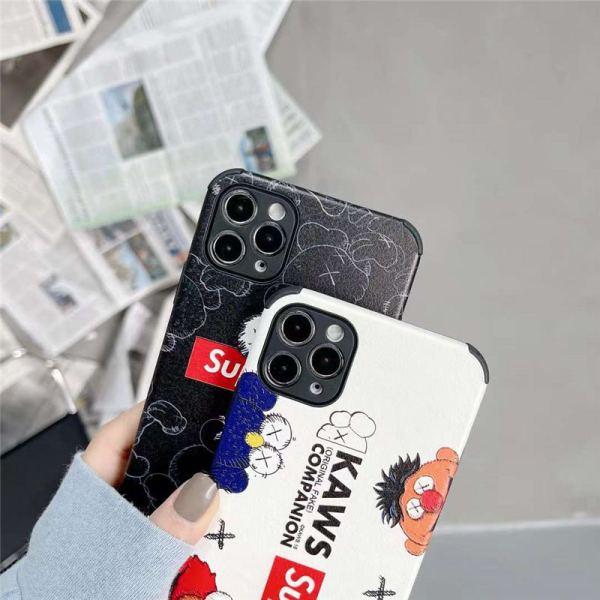 シュプリーム カウズ iphone13/13proケース セサミストリート iphone12mini レザー ケース おもしろ supreme iphone12/11pro/xs カバー 耐衝撃 スマホケース10r/x カップル
