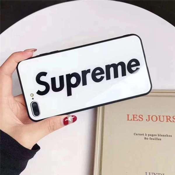 supreme スマホケース 人気 高校生 iphone13/12ミニケース カップル 携帯カバー iphone11 背面 ガラス シュプリーム iphone11pro/x/10rケース インスタ 流行り