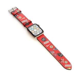 アップル ウォッチ バンド シュプリーム apple watch ベルト ブランド 革 38mm 42mm nike 腕時計 革 ベルト 交換 Apple watch3/4/5/se かっこいい おしゃれ