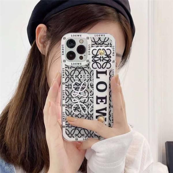 ロエベ スマホケース iphone13pro ベルト 付き loewe iphone12/12pro マックスケース インスタ風 アイフォン11/x/10sカバー可愛い 韓国 女子