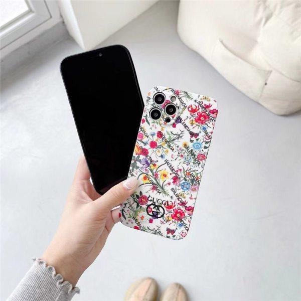 iphone13pro/13miniケース グッチ バレンシアガ iphone12 ケース 花 柄 iphone11pro max/x/xs ソフトカバー メンズ BALENCIAGA 携帯ケース iphone7/8plus