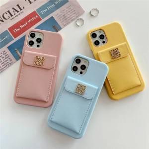 ロエベ 携帯 ケース iphone13pro マカロンカラー loewe風 iphone13/12pro マックス ケース 韓国 シンプル アイフォン11pro/xs max/se2ケース 背面収納 可愛い