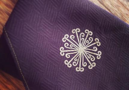 花個紋絹袱紗 茶色