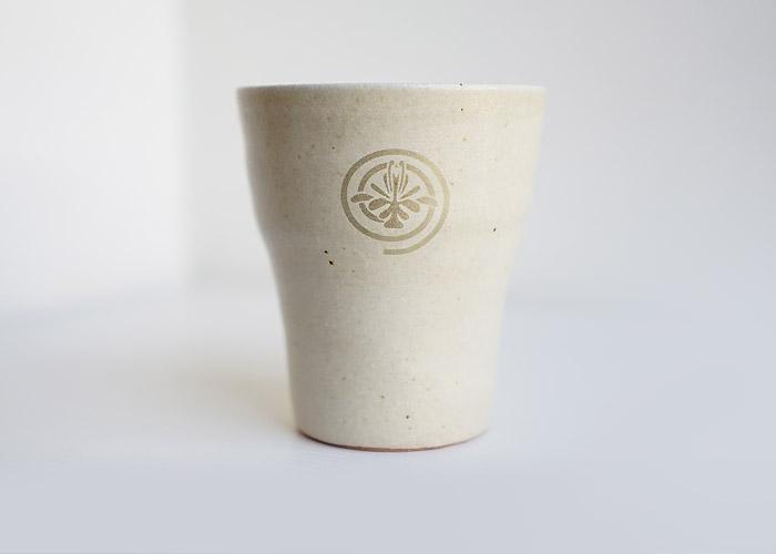 花個紋の信楽焼フリーカップ