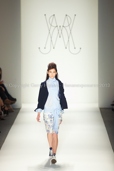 A model on the runway at the Ruffian SS2013 show at New York Mercedes-Benz Fashion Week.
