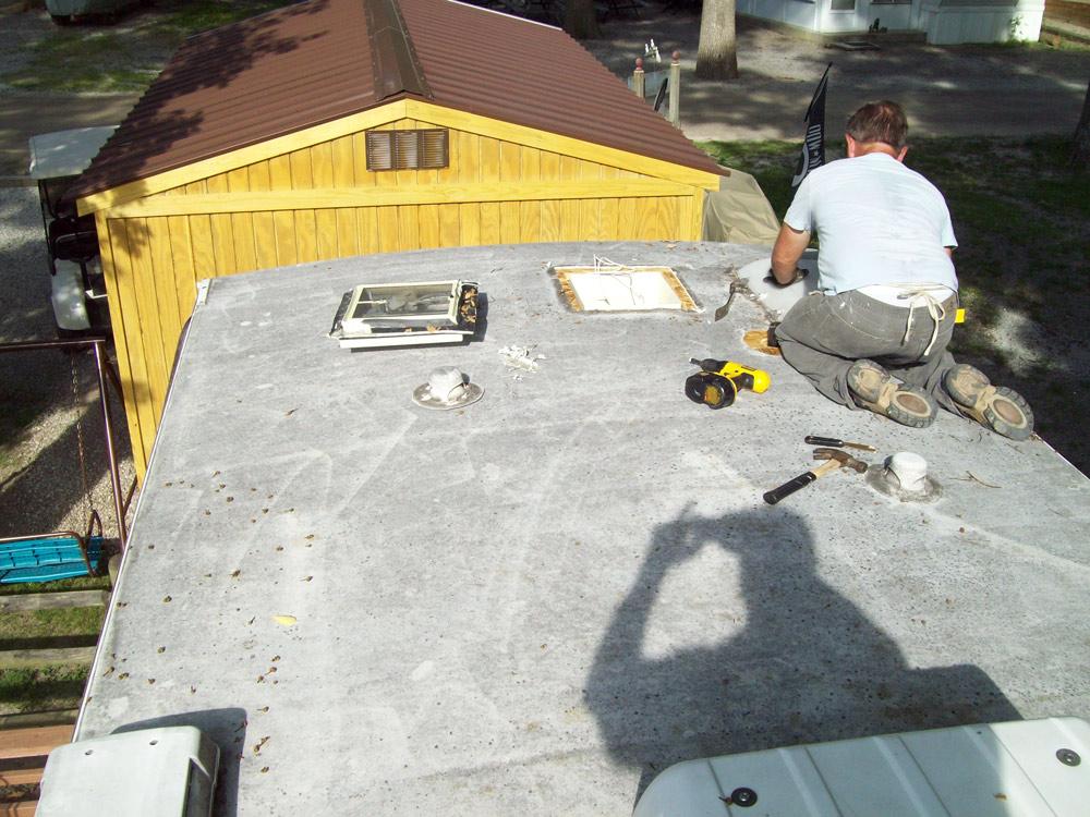 Rv Roof Repair Amp Replacement Hancock Rv Repair Rv