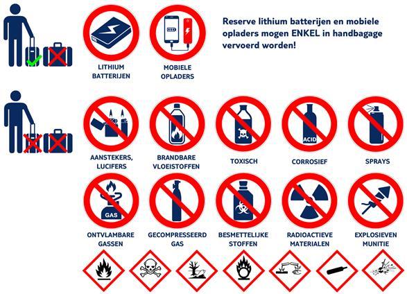 verboden voorwerpen