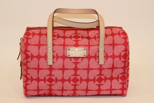 Kate Spade – Red   Pink Pebble Kaleigh Ace of Spades Satchel 2f52d1fed8169