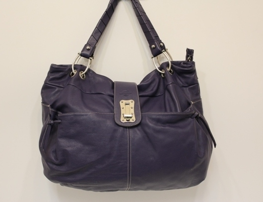 d00aff8596fd Ted Benson – Purple Leather Hobo Tote – Handbag Consignment Shop