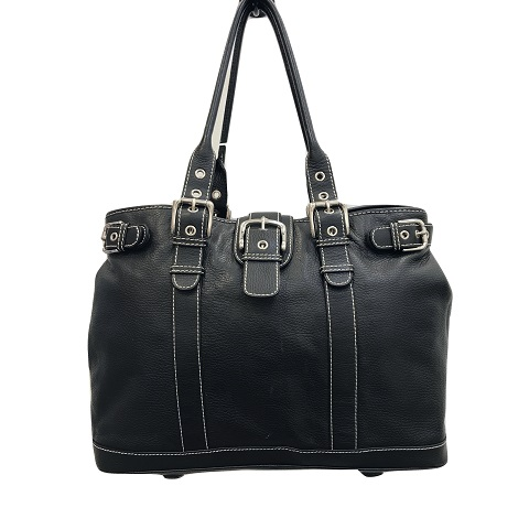 9ddcf1d83695 Isabella Fiore – Black Pebble Leather Extra Large Tote