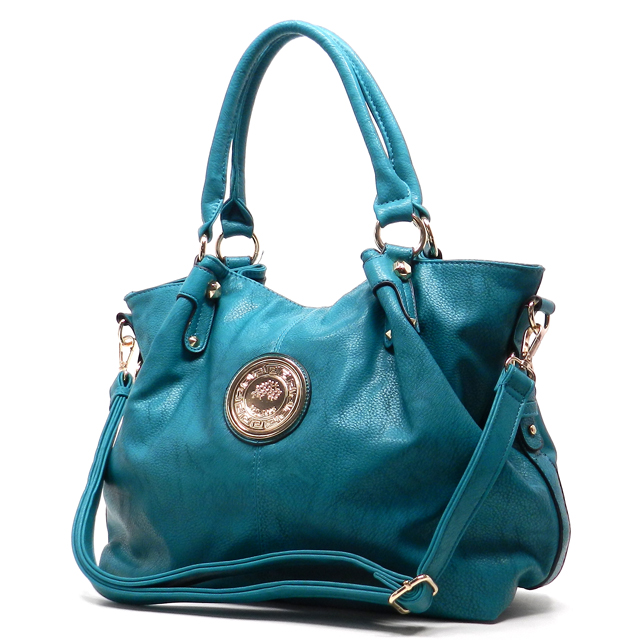 Alyssa Bes60901 Teal Handbags Fashion World