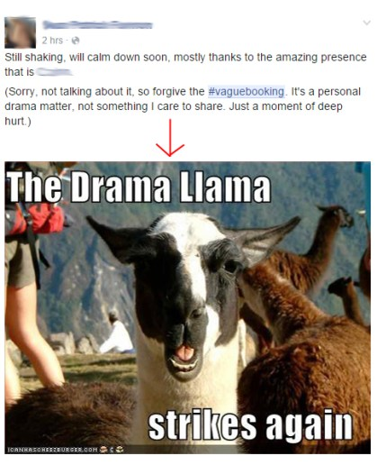 drama lama fb status