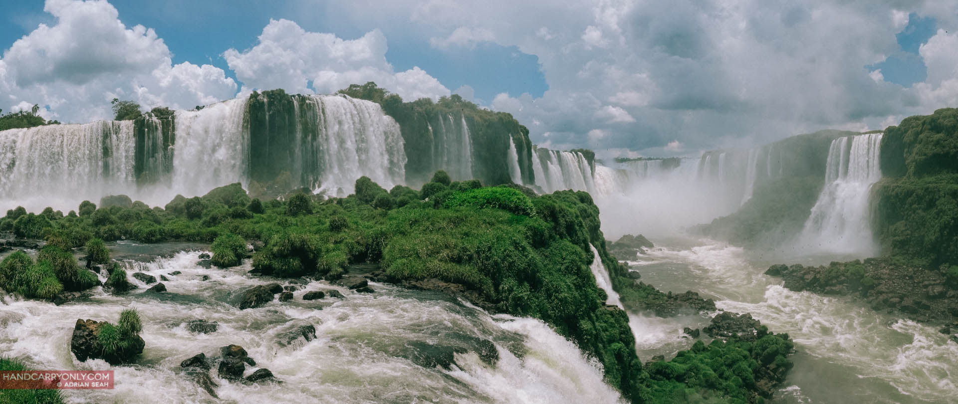 Brazilian side of Iguazu falls