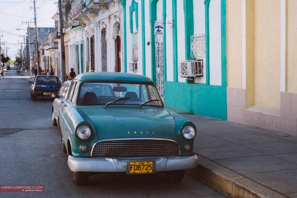 vintage turquoise car cienfuegoes cuba