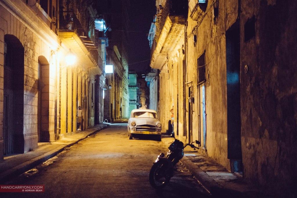 vintage car on the street havana cuba