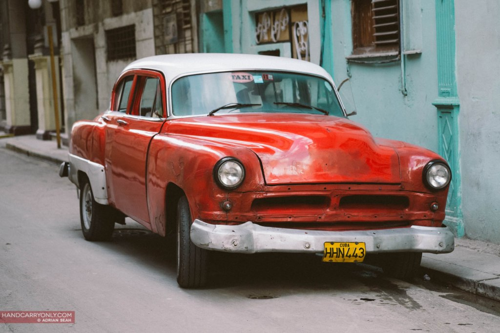old classic car being used as a taxi in havana cuba