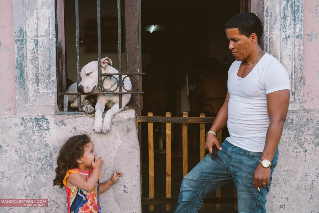 A perfect father, daughter and dog moment cuba