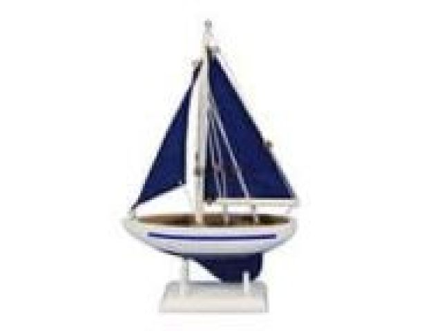 Wooden Fine Catch Model Boat 17 Beach Style Decorative Objects