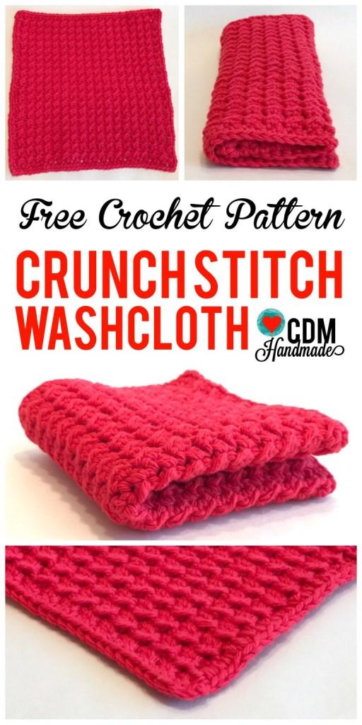 Best Crochet Dish Cloth Pattern from CDMHandmade.com