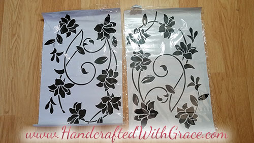 One Hour Removable Furniture Makeover by www.HandcraftedWithGrace.com