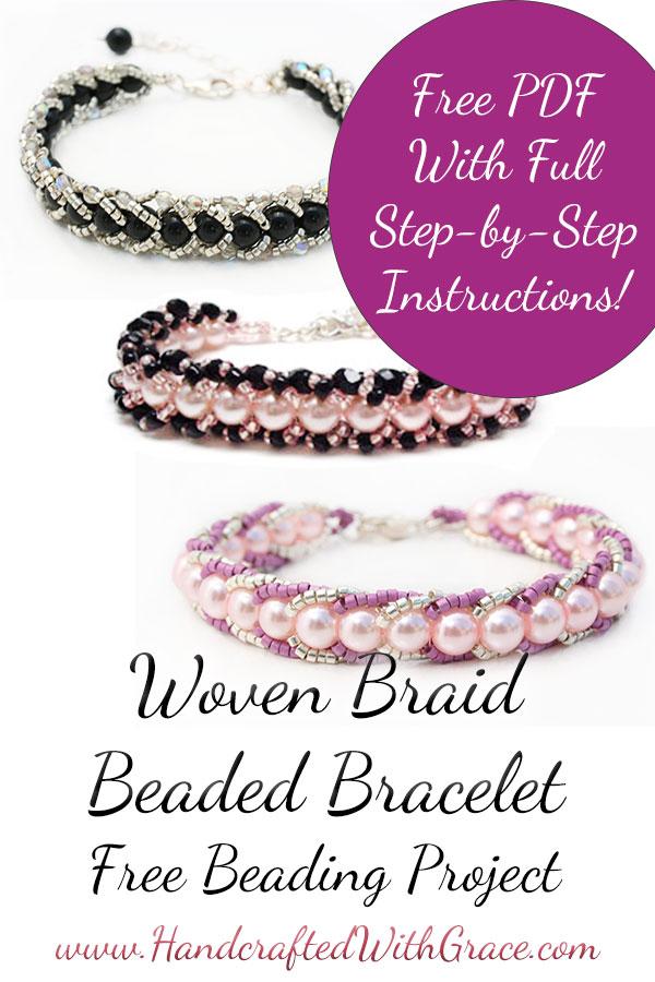 Woven Braid Beaded Bracelet Instructions Free PDF