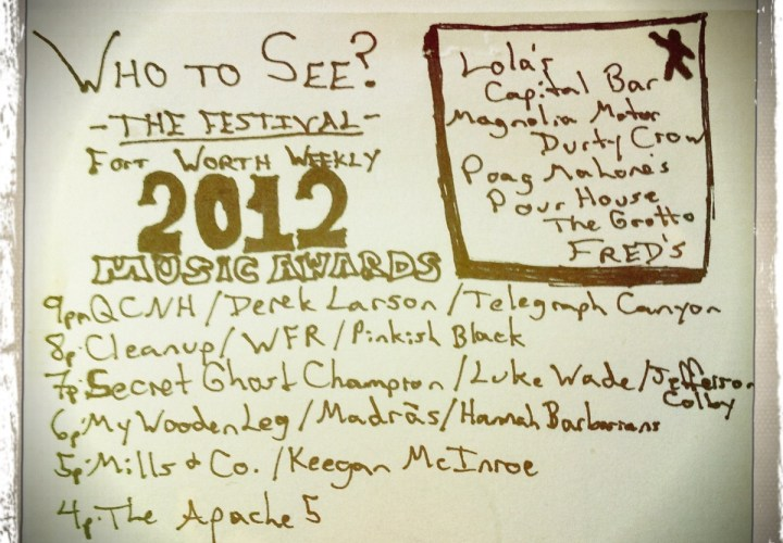 Fort Worth Weekly Music Awards 2012