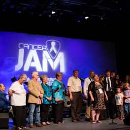 Cancer Jam 2015 Honoree: Linda Blocker with family and friends