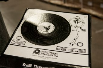 "Limited Edition Box : Hand Drawn Pressing ""Vinyl Record Manufacturer"" Spring 2017 // Courtesy Austin James, CrateDiggersDallas.com"