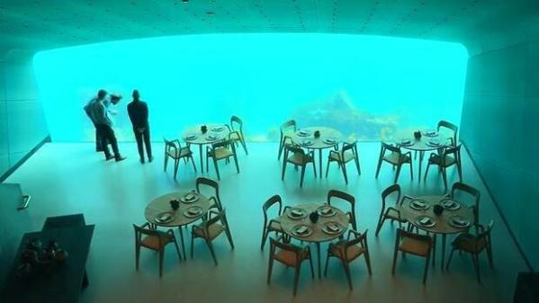 Norwegen Erstes Unterwasserrestaurant in Europa