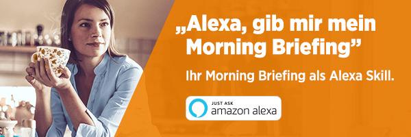 Morning Briefing: Alexa