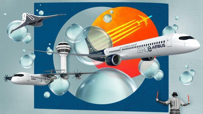 Die Luftfahrt steht in Sachen Klimaschutz unter besonders hohem Druck. Quelle: Julius Brauckmann (Airbus, Getty Images, Dpa Bildfunk)