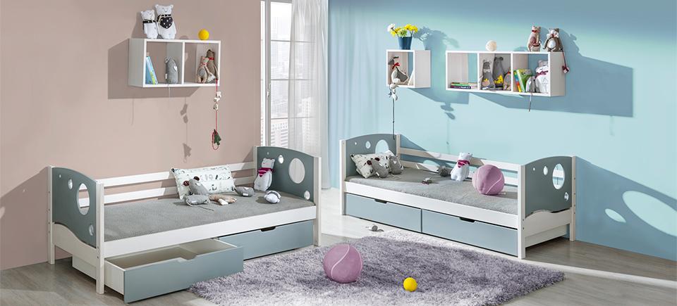 Kinderbett mit Bettkasten 'Kevin'