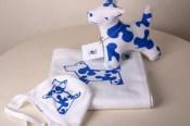 Dop/presentkit blå hund