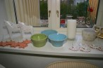 Keramik till salu i ateljén