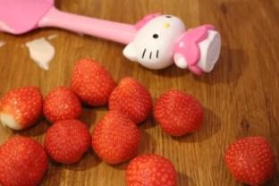 Hello Kitty och jordgubbar