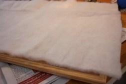 Ikea anslagstavla i furu, med fibervadd