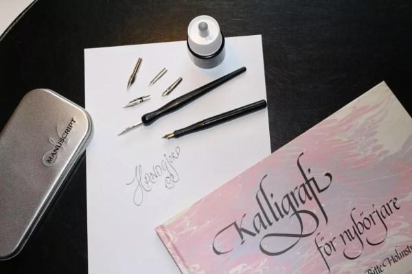 Kalligrafiträning