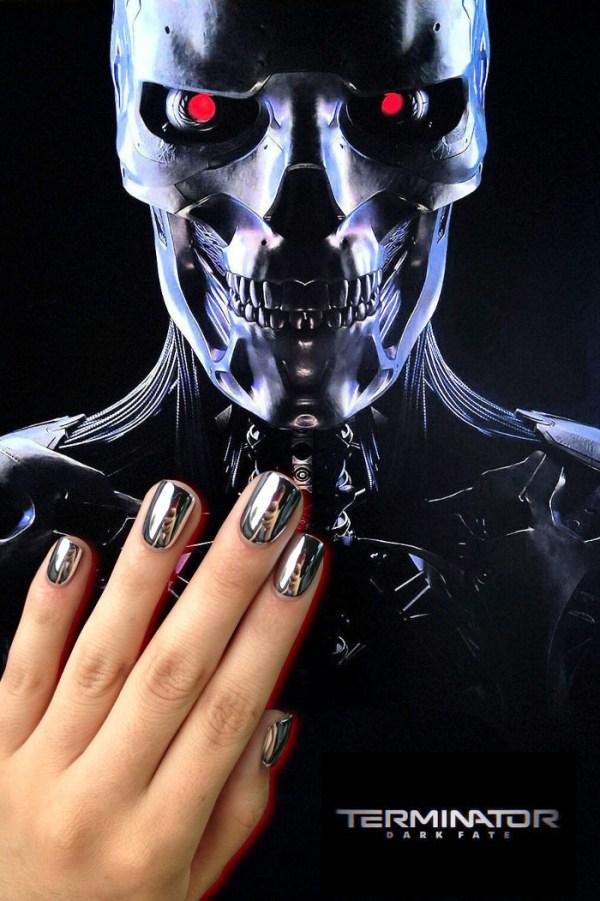 Terminator Nail Art