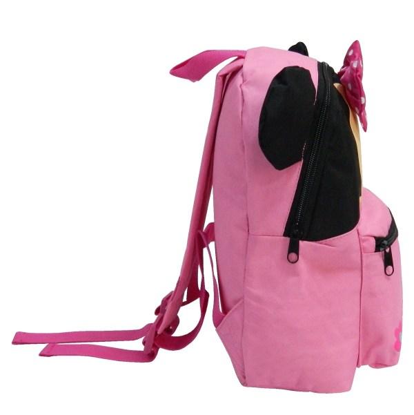 disney roze rugzak minnie mouse voor meisje op school zijkant