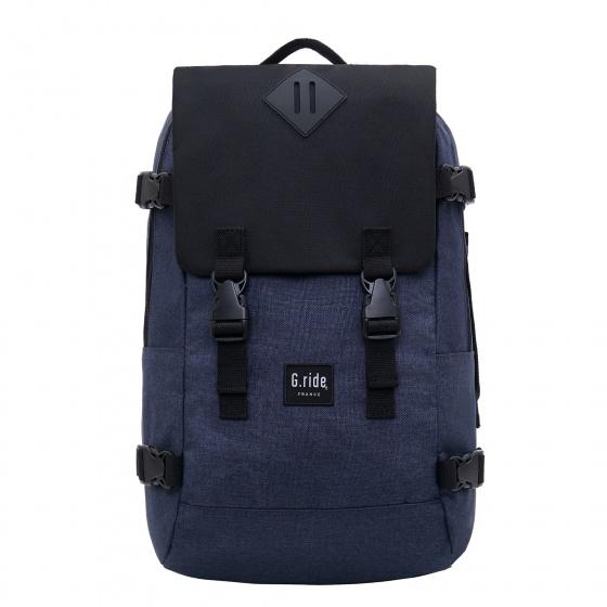 rugzak met laptopvak 24 liter donkerblauw