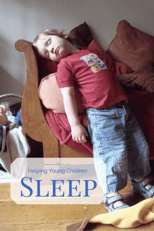 young child sleeping
